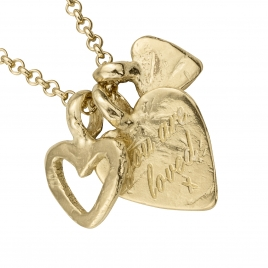 Gold A Lot Of Love Necklace detailed