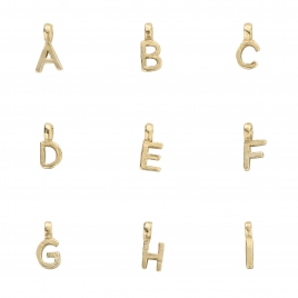 Gold Mini Alphabet Character detailed