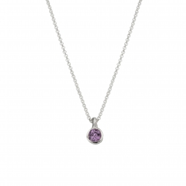 Silver Amethyst Baby Treasure Necklace