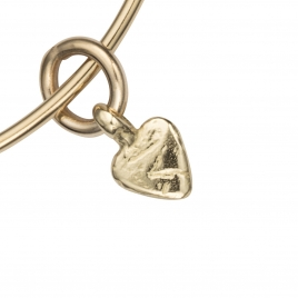 Gold Baby Heart Bangle detailed