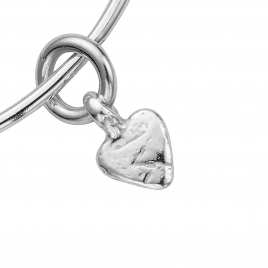 Silver Baby Heart Bangle detailed