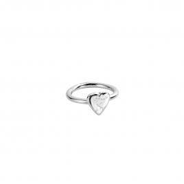 Silver Love Struck Baby Heart Ring