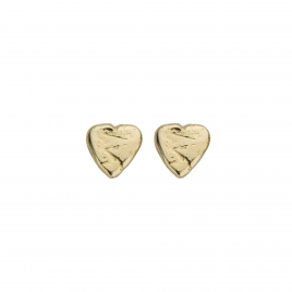 Gold Baby Heart Stud Earrings