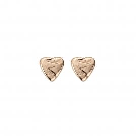 Rose Gold Baby Heart Stud Earrings