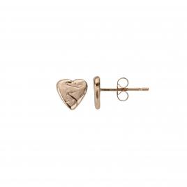 Rose Gold Baby Heart Stud Earrings detailed