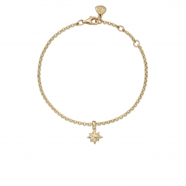 Gold Baby North Star Chain Bracelet