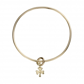 Gold Baby Shamrock Mini Bangle