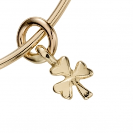 Gold Baby Shamrock Bangle detailed