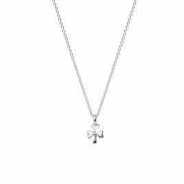 Silver Baby Shamrock Necklace