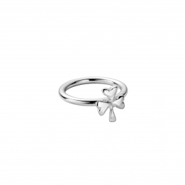 Silver Love Struck Baby Shamrock Ring