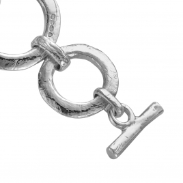 Silver Bit Bracelet detailed
