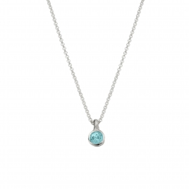 Silver Blue Topaz Baby Treasure Necklace