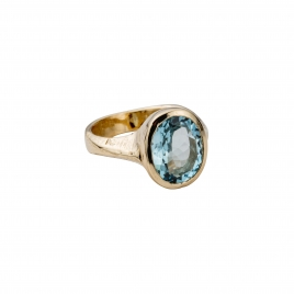 COSIMA Aquamarine Gold Ring