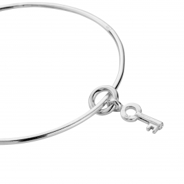 Silver Mini Dreamer's Key Bangle detailed