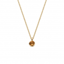 Gold Citrine Baby Treasure Necklace