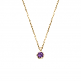 Gold Amethyst Baby Treasure Necklace