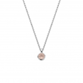 Silver Rose Quartz Baby Treasure Necklace