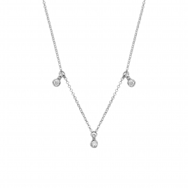 Silver Trio Diamond Necklace