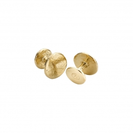Gold Disc Cufflinks
