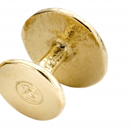 Gold Disc Cufflinks detailed