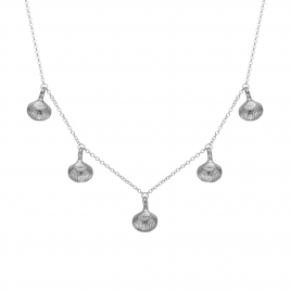 Silver Five Shell Necklace
