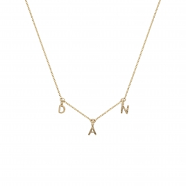 Gold Fixed Alphabet Necklace