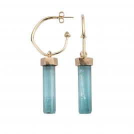 GELIDA Gold Aquamarine Drop Earrings