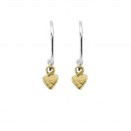 Maxi Cupid Hoops with Gold Baby Heart Charms