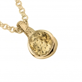 Gold Citrine Baby Treasure Necklace detailed