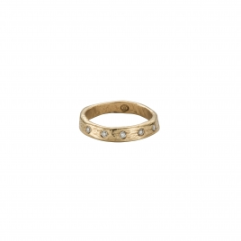 Gold 5 Diamond Posey Ring