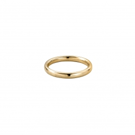 Gold Ladies Oval Wedding Band