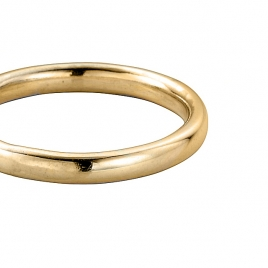 Gold Ladies Oval Wedding Band detailed