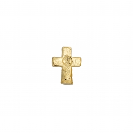 Gold Little Cross Single Ear Charm