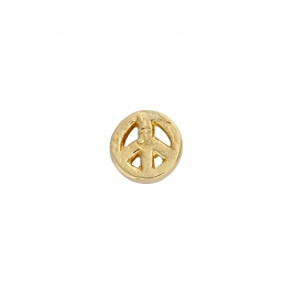 Gold Little Peace Single Ear Charm