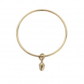 Gold Medium Bowness Acorn Bangle