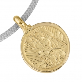 Gold Medium St Christopher Sailing Rope detailed
