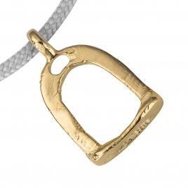 Gold Medium Stirrup Sailing Rope detailed