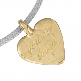 Gold Medium You Are Loved Sailing Rope detailed