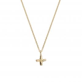 Gold Mini Kiss Necklace