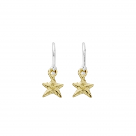 Mini Cupid Hoops with Gold Mini Star Charms