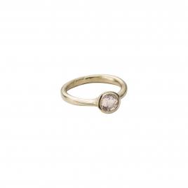 Gold Rose Quartz Baby Stone Ring