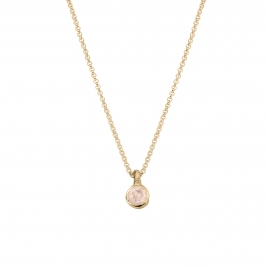 Gold Rose Quartz Baby Treasure Necklace