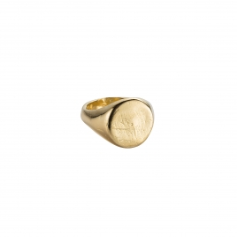 Gold Round Signet Ring