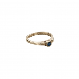 Gold Sapphire Promise Ring