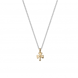Silver & Gold Baby Shamrock Necklace