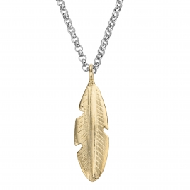Silver & Gold Maxi Feather Necklace