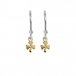 Maxi Cupid Hoops With Gold Baby Shamrock Charms