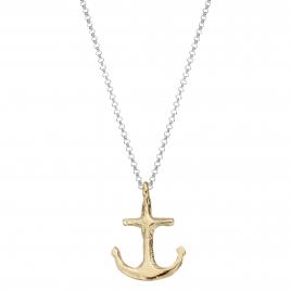 Silver & Gold Midi Anchor Necklace
