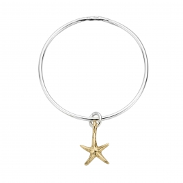 Silver & Gold Medium Starfish Bangle