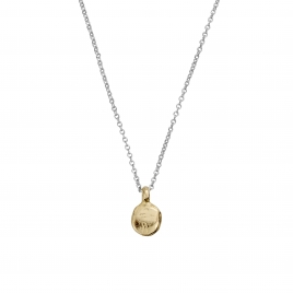 Silver & Gold Mini Disc Necklace